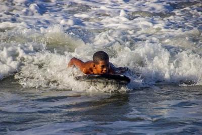 Bodysurfer, Cabarete, Rep. Dominicana